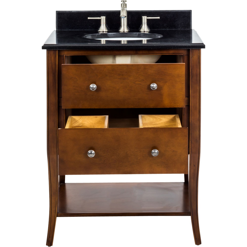 "36"" Philadelphia Classic vanity in chocolate finish with top"